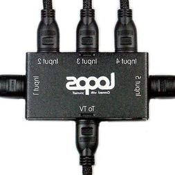 loops hdmi cable 5 way manual switch