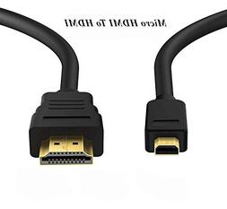 SLLEA 6ft Micro HDMI to HDMI Cable for Acer Iconia W3-810 W7