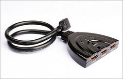 MyCableMart 3 in/1 Out HDMI Switch AUTO-Select, Pigtail Styl