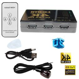 Ultra HD 4K x 2K HDMI Switch 3x1 5 Port Switcher Selector 3D