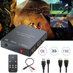 3 IN 1 1080P HDMI Audio Extractor 3.5mm Toslink SPDIF Output