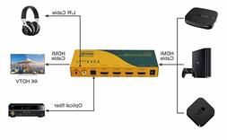 U9 ViewHD HDMI 2.0 4K 3x1 Switch with Audio Extractor 3 in 1
