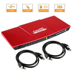Ultra HD 4 Port 4x1 HDMI KVM Switch Support 3840*2160/4K*2K