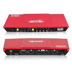 TESmart Ultra HD 4x1 HDMI 4K@60Hz The Fast Switch 4Kx2K 4 Po