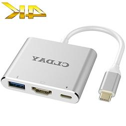 USB-C to HDMI Adapter 4K CLDAY USB Type C to HDMI Multiport