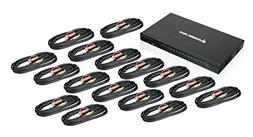 IOGEAR 16-Port USB HDMI KVMP Switch with USB Cable Sets  GCS