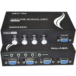 iKKEGOL 4 Port VGA Switch Audio Video Switcher Box  4 x 1 SV