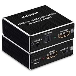 Tensun 4K x 2K HDMI to HDMIOptical TOSLINK SPDIF with 3.5mm