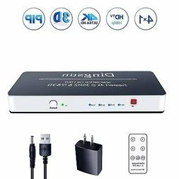 HDMI Switch, 4 Port HDMI Switch with Remote, HDMI Port, HDMI