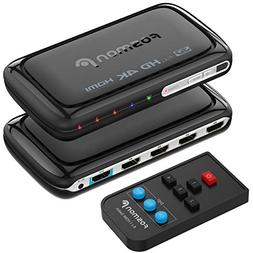 Fosmon 4-Port 4Kx2K HDMI Switch with PIP & Remote Control ,